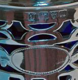 Edwardian Silver Trumpet Shaped Vase with Blue Glass Liner - Chester 1901 (3 of 4)