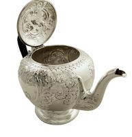 Antique Victorian Sterling Silver Teapot 1896 (3 of 10)
