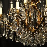 Italian Gilt & Crystal 22 Light Antique Chandelier (7 of 10)