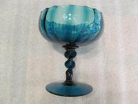 Fine Quality 19th Century Turquoise Glass Pedestal Bowl (5 of 5)