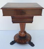 Rare 19th Century Marquetry Inlaid Irish Killarney Work Box or Table (10 of 13)