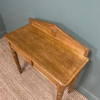 Quality Victorian Golden Oak Antique Hall Table (3 of 7)