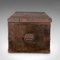 Antique Steamer Trunk, English, Pine, Iron, Carriage Chest, Victorian c.1860 (5 of 12)
