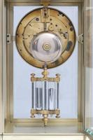 French Brass Four Glass Mantel Clock by Samuel Marti (7 of 7)