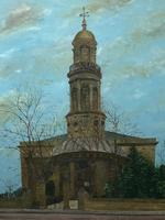 "19th Century English Oil Painting View ""St Marys Church Banbury Oxfordshire"" (23 of 24)"