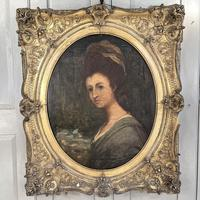 Antique Georgian Early Victorian Oil Painting Portrait of a Society Lady (3 of 10)