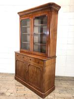 Antique Mahogany Two Stage Bookcase (9 of 10)