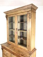 Antique Victorian Pine Dresser with Glazed Top (9 of 13)