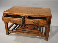 Neat Mid 19th Century Two Drawer Low Table (6 of 9)