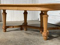 Huge Bleached Oak French Extending Dining Table (12 of 24)