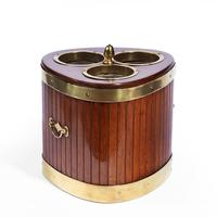 George III Mahogany & Brass Mounted Wine Cooler (3 of 4)