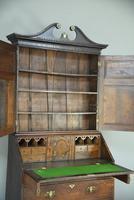 Antique Oak Bureau Bookcase (5 of 9)
