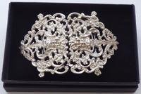 Victorian 1899 Hallmarked Solid Silver Nurses Belt Buckle Charles May of London (8 of 8)