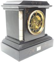 Fine French Slate & Marble Mantel Clock 8 Day Striking Mantle Clock (9 of 10)