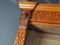Antique Victorian Golden Oak Open Bookcase (5 of 20)