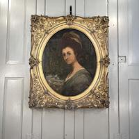 Antique Georgian Early Victorian Oil Painting Portrait of a Society Lady (10 of 10)