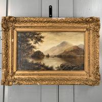 Antique Landscape Oil Painting of Scottish Loch (5 of 9)