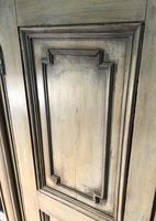 Pine Barrel Back Corner Cupboard in Original Paint (9 of 18)