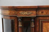 19th Century burr walnut breakfront credenza (6 of 10)