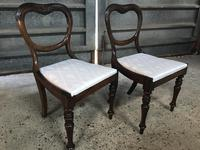 Pair of Beautiful Victorian  Rosewood Chairs (2 of 7)