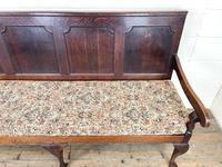 Antique George III Oak Settle Bench (3 of 10)