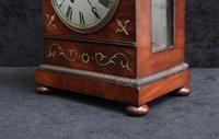 English Late Regency Mahogany Timepiece Mantel Clock (5 of 9)