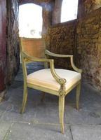 French Painted Regency Elbow Chair (5 of 9)