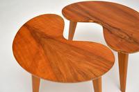Pair of Vintage Walnut Kidney  Side  Tables (5 of 9)