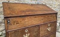 18th Century Georgian Oak Crossbanded Bureau (4 of 22)