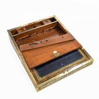 Superb William IV Brass Inlaid Kingwood Writing Box by Edwards (12 of 17)