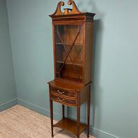 Quality Tall Slim Mahogany Victorian Antique Bookcase (7 of 8)