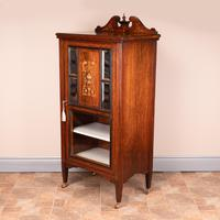 Edwardian Inlaid Music Cabinet (2 of 12)
