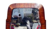 Small Early 20th Art Nouveau Rosewood Wall or Pad  Mirror (4 of 11)