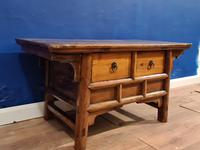 Chinese 19th Century Elm Altar Prayer Coffee Table 'Qing Dynasty' (7 of 8)