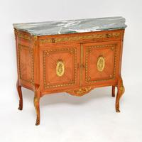 French Ormolu Mounted Marble Top Cabinet c.1930
