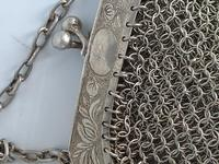 Silver Plate Chinese Chainmail Purse (4 of 7)