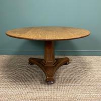 William IV Oak Circular Antique Pedestal Dining Table