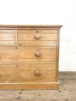 Antique Pale Oak Chest of Drawers (4 of 10)