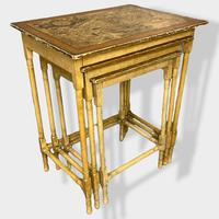 Italian Painted Nest of Tables with Map Prints (9 of 10)