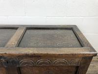 Early 19th Century Antique Oak Coffer Blanket Box (9 of 19)