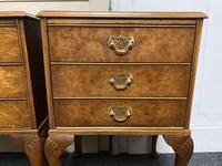 Set of 3 Burr Walnut Bedside Drawers (6 of 16)