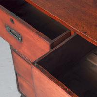 Victorian Teak Two Part Military Chest (4 of 13)