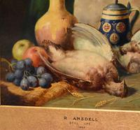 Superb still life oil painting by Richard Ansdell RA (7 of 8)
