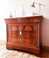 Flamed Mahogany Chest of Drawers / Sideboard / Commode with Marble (2 of 8)