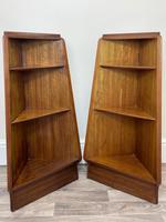 Pair of Mid Century G Plan E Gomme Pyramid Teak Open Corner Bookcases (3 of 38)