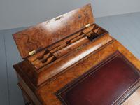 Antique Mid-victorian Burr Walnut Davenport Desk (3 of 12)