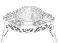 3.75ct Diamond & Platinum Dress Ring - Art Deco c. 1930 (2 of 9)