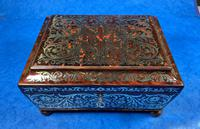 English Boulle & Brass Kingwood Edged Jewellery Box (9 of 16)