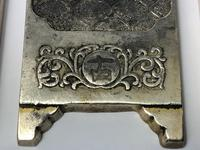 Antique Chinese Solid Silver Zu Yin Hallmarked Scroll Weight Plaques Guangxu (14 of 24)