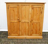Victorian, pine hall, book, storage cupboard - refurbished